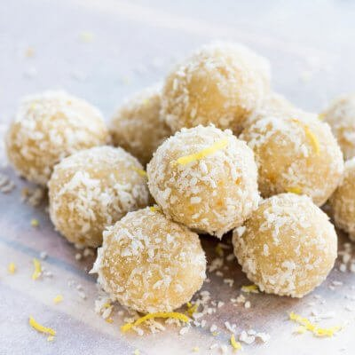 Lemon Coconut Luteal Balls